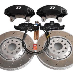 Golf 7R 7.5R 6 R20 4Pot Brake kit Upgrade ClubSport Audi TTS 8S NEW Black