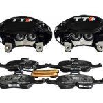 Audi TTS 2018 4Pot Calipers brake upgrade on Golf 7 R Audi S3 8v Audi TT NEW Black