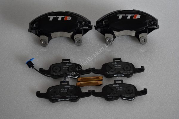 Audi TTS 2018 4Pot Calipers brake upgrade on Golf 7 R Audi S3 8v Audi TT NEW Black