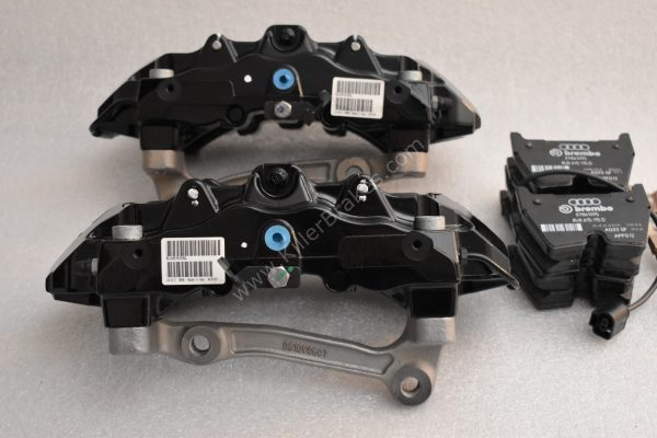 Audi RSQ3 Brembo 8Pot Calipers 8U0615107 8U0615108 20.7675.02 brackets pads pins NEW-51