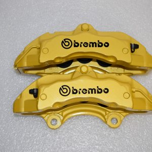 Porsche Cayenne BREMBO 6 Pot 17Z Calipers Yellow Lamorghini color