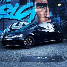 Golf 7R 650+ Wheel HP from USA Brembo 8pot calipers yellow Lamborghini color with 370x34mm brake discs