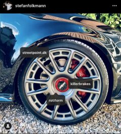 Audi S3 8v from Denmark with Audi Rsq3 8U Brembo 8pot brake kit 365x34mm wave brake discs
