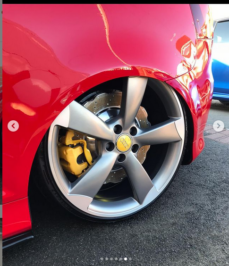 Audi S3 8P from UK with Front Audi Rsq3 Brembo 8pot wave 365x34mm brake kit and rear 356x22mm wave brake discs upgrade