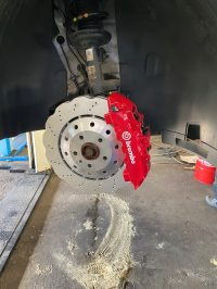 tiguan 2018 Brembo 8piston brakes wave discs