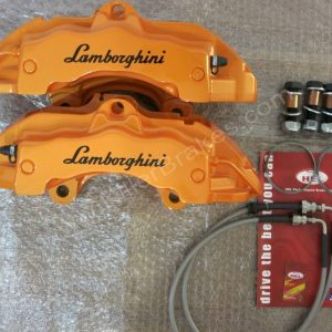 BREMBO 6 Pot 18Z Calipers Orange Lamborghini with mounting kit and lines www.KillerBrakes.com