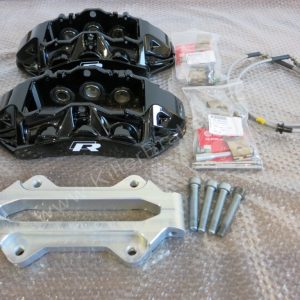 Audi RS6 RS7 Brake Calipers Brembo 6 pot 4F0615107 4F0615108 Black with Brackets and pad holders and lines for mk5/6/7 R20 Gti R32 S3 www.KillerBrakes.com