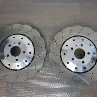 AUDI FRONT PAIR RS6 RS7 4G0615301E GENUINE OEM 390MM WAVE ROTOR DISCS Brand NEW www.KIllerBrakes.com