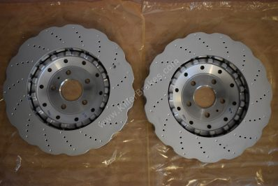 New Genuine Audi RS6 RS7 2013 on Front Brake Discs (Pair) 4G0615301AH 4G0615301E