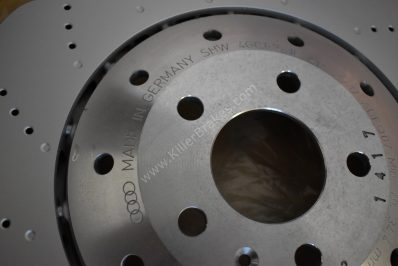 AUDI FRONT PAIR RS6 RS7 4G0615301E GENUINE OEM 390MM WAVE ROTOR DISCS Brand NEW