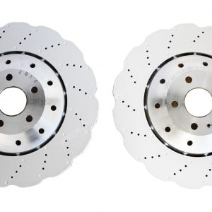 Front Audi RS6 RS7 390x36mm Wave Brake Discs 4G0615301AH 4G0615301E (Pair) NEW