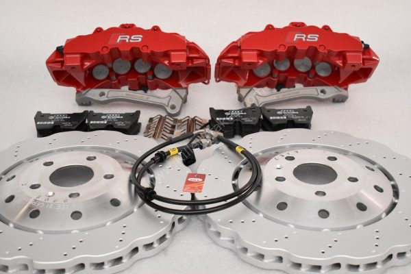 Audi RS Full Big brake upgrade Brembo 8 Pot Calipers 365x34mm Wave Brake discs Brand NEW Red-27
