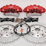 Audi RS Full Big brake upgrade Brembo 8 Pot Calipers 365x34mm Wave Brake discs Brand NEW Red-29