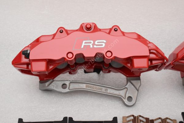 Audi RS Full Big brake upgrade Brembo 8 Pot Calipers 365x34mm Wave Brake discs Brand NEW Red-36