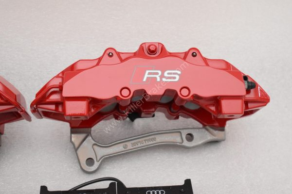 Audi RS Full Big brake upgrade Brembo 8 Pot Calipers 365x34mm Wave Brake discs Brand NEW Red-37