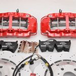 Audi RS Full Big brake upgrade Brembo 8 Pot Calipers 365x34mm Wave Brake discs Brand NEW Red-38