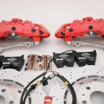 Audi RS Full Big brake upgrade Brembo 8 Pot Calipers 365x34mm Wave Brake discs Brand NEW Red-42