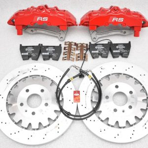 Audi TTRS 8S Brembo 8Pot Calipers 370x34mm Brake discs mk5/6/7 R20 S3 8P 8V TTRS mk7 R Red