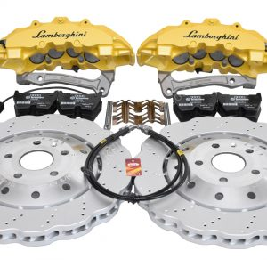 Audi RS Full Big brake upgrade Brembo 8Pot Calipers 365mm Wave Brake discs Brand NEW Yellow Lamborghini