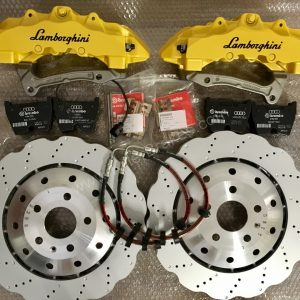 Audi RS Brembo 8 Pot Calipers 370mm Brake discs mk5/6/7 R20 S3 8P 8V TTRS mk7 R yellow lamborghini www.KillerBrakes.com