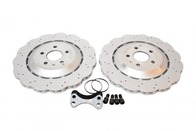 Rear brake upgrade 356mm wave discs Golf 5 6 7 R20 Gti R R32 Audi S3 8v 8p