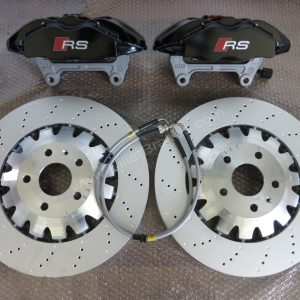 Audi RS3 TTRS 4Pot Brembo Calipers Complete Brake KIT GTi/GT/RS/TTRS/RS3/R32/R20 BBK Black www.KIllerBrakes.com