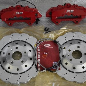 Audi RS Full Big brake upgrade Brembo 8Pot Calipers 365mm Wave Brake discs Brand NEW Red