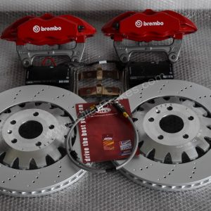 Audi TTRS 4Pot Brembo Calipers Complete Brake KIT GTi/GT/RS/TTRS/RS3/R32/R20 BBK Red