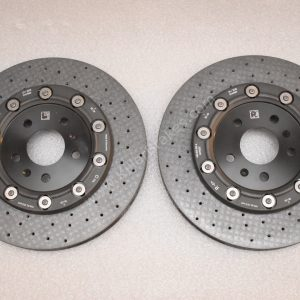Audi R8 Rear Ceramic Brake Discs Rotors 356x32mm 4S0615601A 4S0615602A NEW