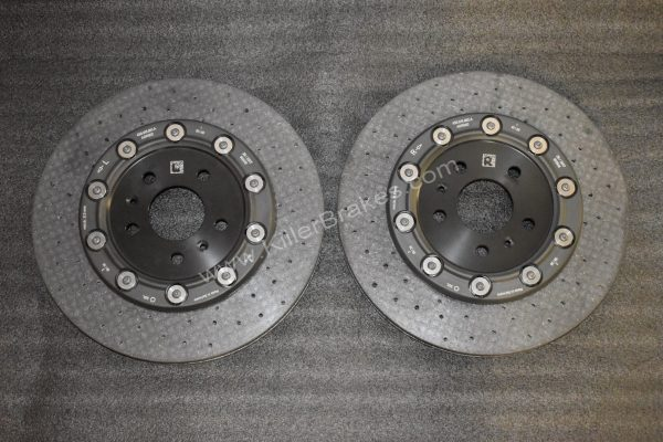Audi R8 Rear Ceramic Brake Discs Rotors 356x32mm 4S0615601A 4S0615602A NEW 420615601L 420615602F