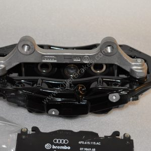 Audi RS6 RS7 Front Calipers Brembo 6pot 4G0615107D 4G0615108D Black New- 10