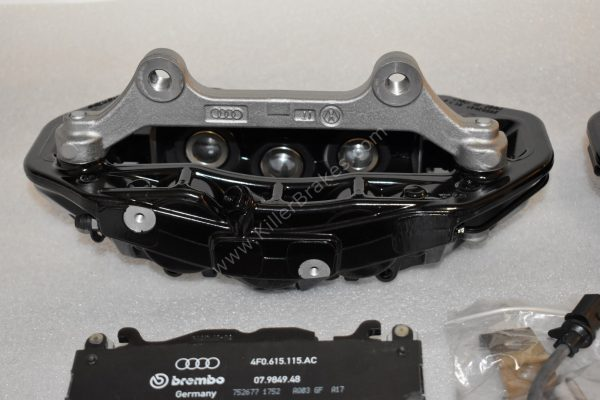 Audi RS6 RS7 Front Calipers Brembo 6pot 4G0615107D 4G0615108D Black New- 11