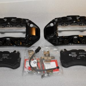 Audi RS6 RS7 Front Calipers Brembo 6pot 4G0615107D 4G0615108D Black New- 12