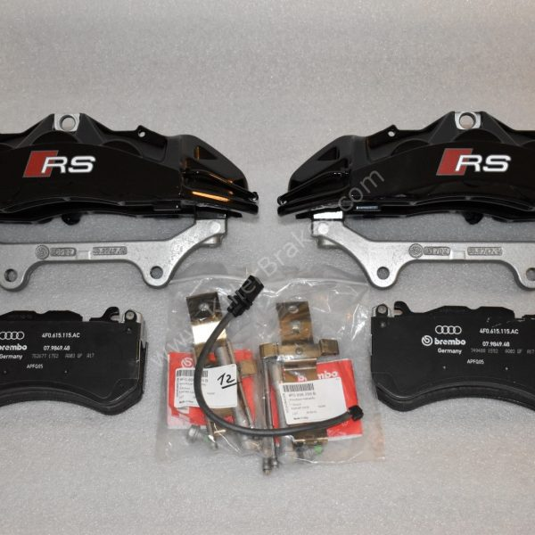 Audi RS6 RS7 Front Calipers Brembo 6pot 4G0615107D 4G0615108D Black New- 2