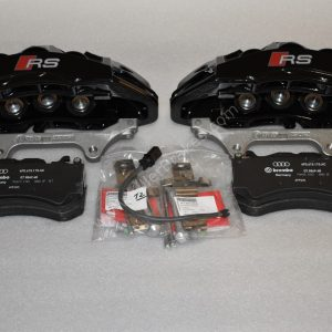 Audi RS6 RS7 Front Calipers Brembo 6pot 4G0615107D 4G0615108D Black New- 3