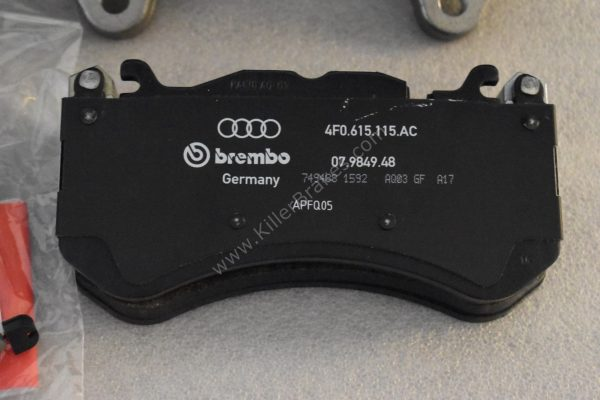 Audi RS6 RS7 Front Calipers Brembo 6pot 4G0615107D 4G0615108D Black New- 5