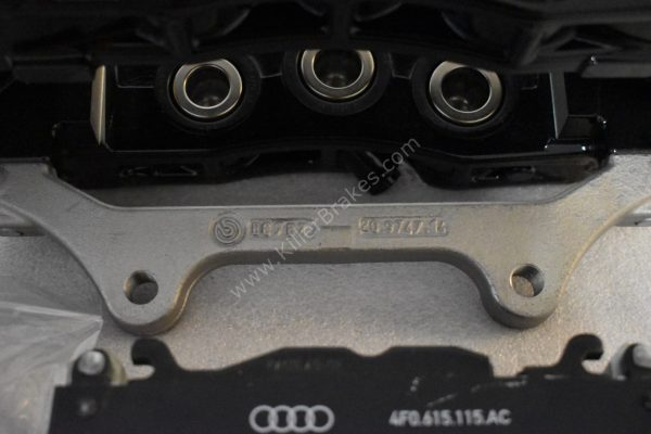 Audi RS6 RS7 Front Calipers Brembo 6pot 4G0615107D 4G0615108D Black New- 6