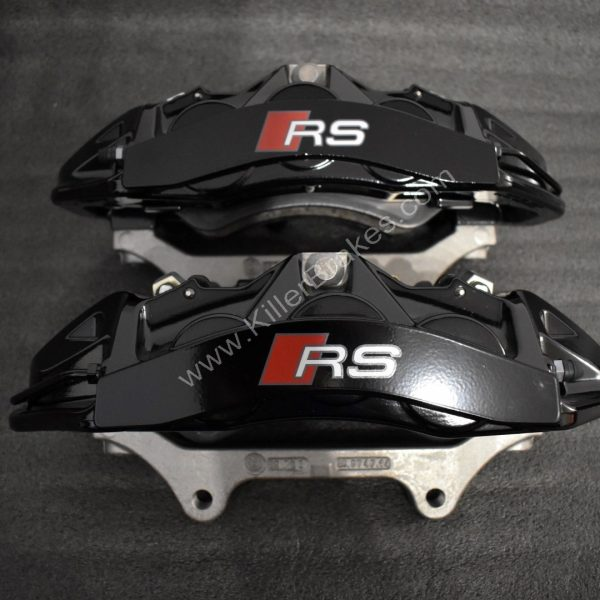 Audi RS6 RS7 Front Calipers Brembo 6pot 4G0615107D 4G0615108D Black NEW