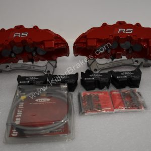 Audi RSQ3 Brembo 8Pot Calipers 20.7675.02 with brackets and pads NEW Red
