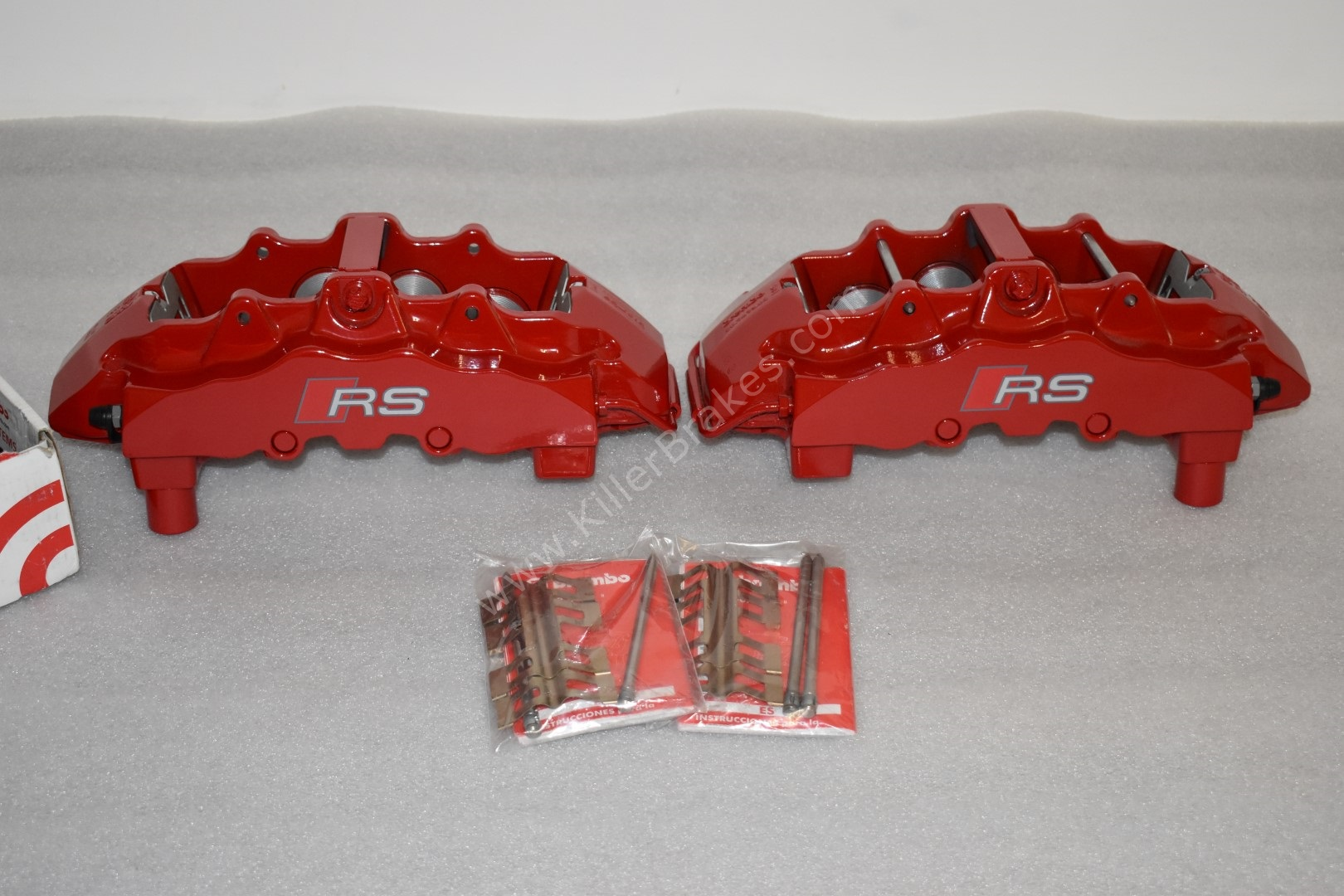 Brembo 8Pot Calipers 20.7675.02 Brembo pads Red NEW