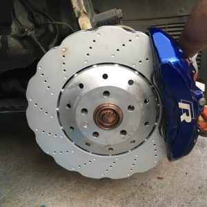 USED Big Brake Kit Brembo 6pot Brake kit 390mm wave Brake discs mk5/6/7 R R20 S3 8P 8V TTRS