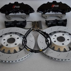 Audi RS Full Big brake upgrade Brembo 8Pot Calipers 370mm Brake discs Brand NEW Black
