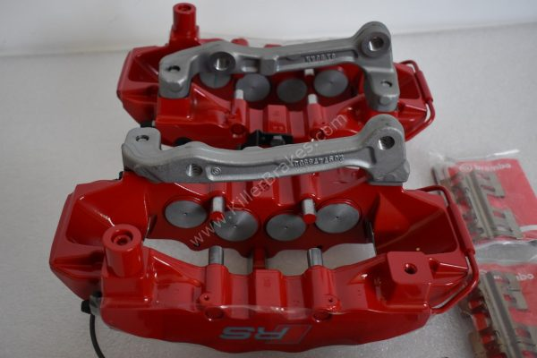 Audi RS3 8v Brembo 8Pot Calipers 20.7675.02 with brackets and pads NEW Red -15