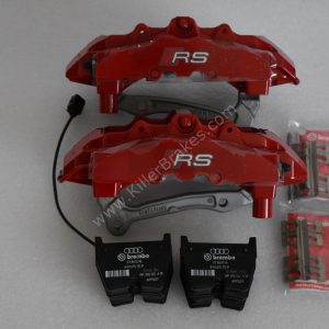 Audi RS3 8v Brembo 8Pot Calipers 20.7675.02 with brackets and pads NEW Red -2