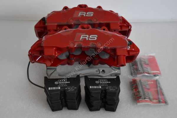 Audi RS3 8v Brembo 8Pot Calipers 20.7675.02 with brackets and pads NEW Red -7