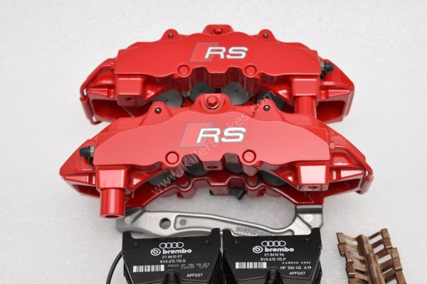 Audi TTRS 8S RS3 8v Brembo 8Pot Calipers 20.7675.02 with brackets and pads NEW Red
