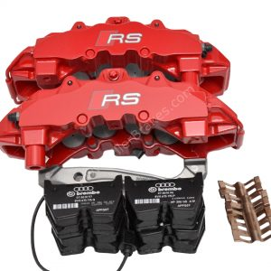 Front Audi TTRS 8S RS3 8v Brake Calipers 8V0615107C 8V0615108C Brembo 8Pot NEW Red