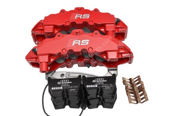 Front Audi TTRS 8S RS3 8v Brake Calipers 8V0615107C 8V0615108C Brembo 8Pot NEW Red