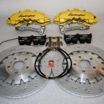 Audi TTRS 8S brake kit Brembo 8Pot Calipers 370x34mm Brake discs mk5/6/7 R20 S3 8P 8V TTRS mk7 R Yellow