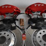Audi TTS 8S 4Pot Brake kit Upgrade ClubSport brake discs NEW Red -16